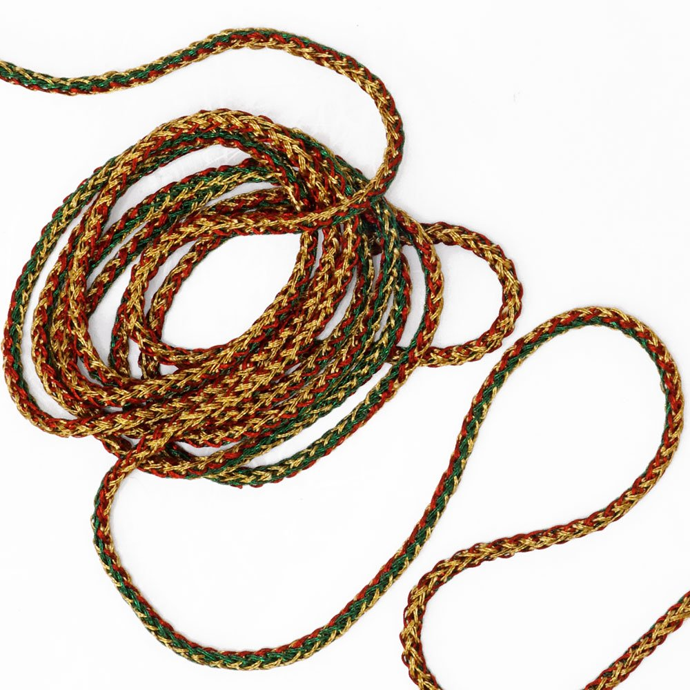 MAY-555 Gold 3mm Metallic Craft Cord by 16 Yards