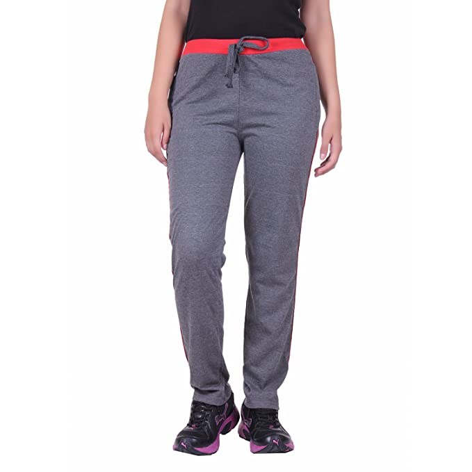 DFH Women's Cotton Track Pant Women's Sports Trousers at amazon