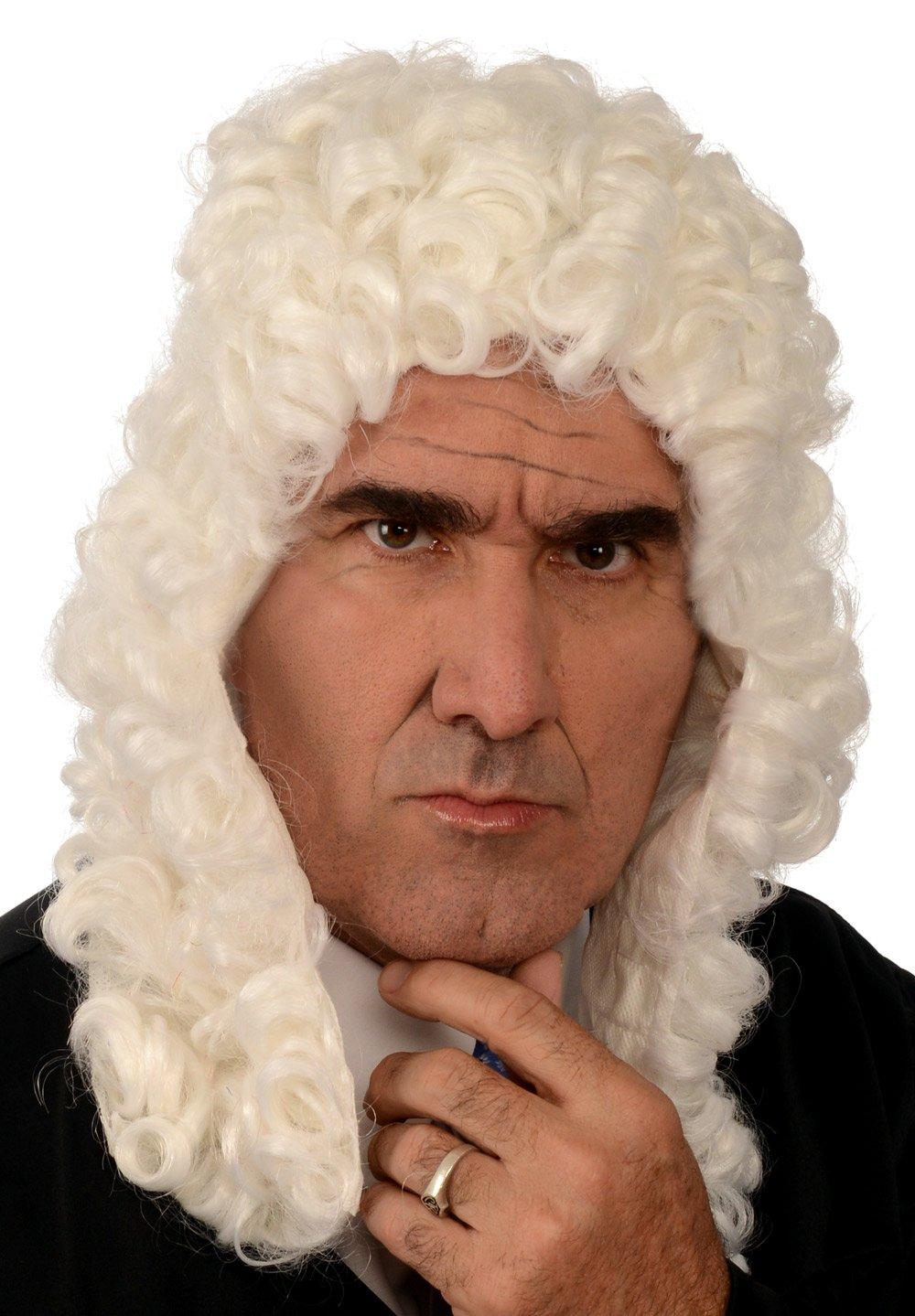 Kangaroo Costume Wigs - Colonial Judge Wig; White