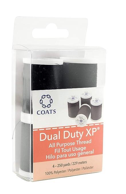 Coats Abrigos Mezcla de poliéster Dual Deber XP Multiusos Rosca 250yd spools-Black