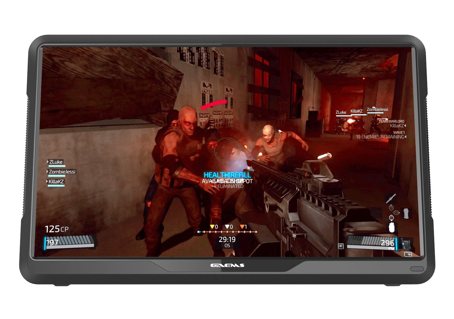 GAEMS M155 15.5'' HD LED Performance Portable Gaming Monitor for PS4, XBOX ONE, and other Consoles (console not included) by GAEMS