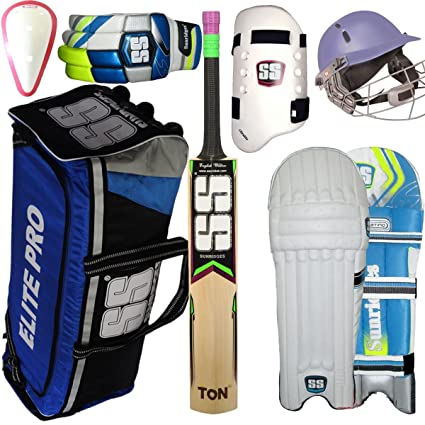 91266a375 Image Unavailable. Image not available for. Colour  SB SS Academy English  Willow Cricket Kit ...