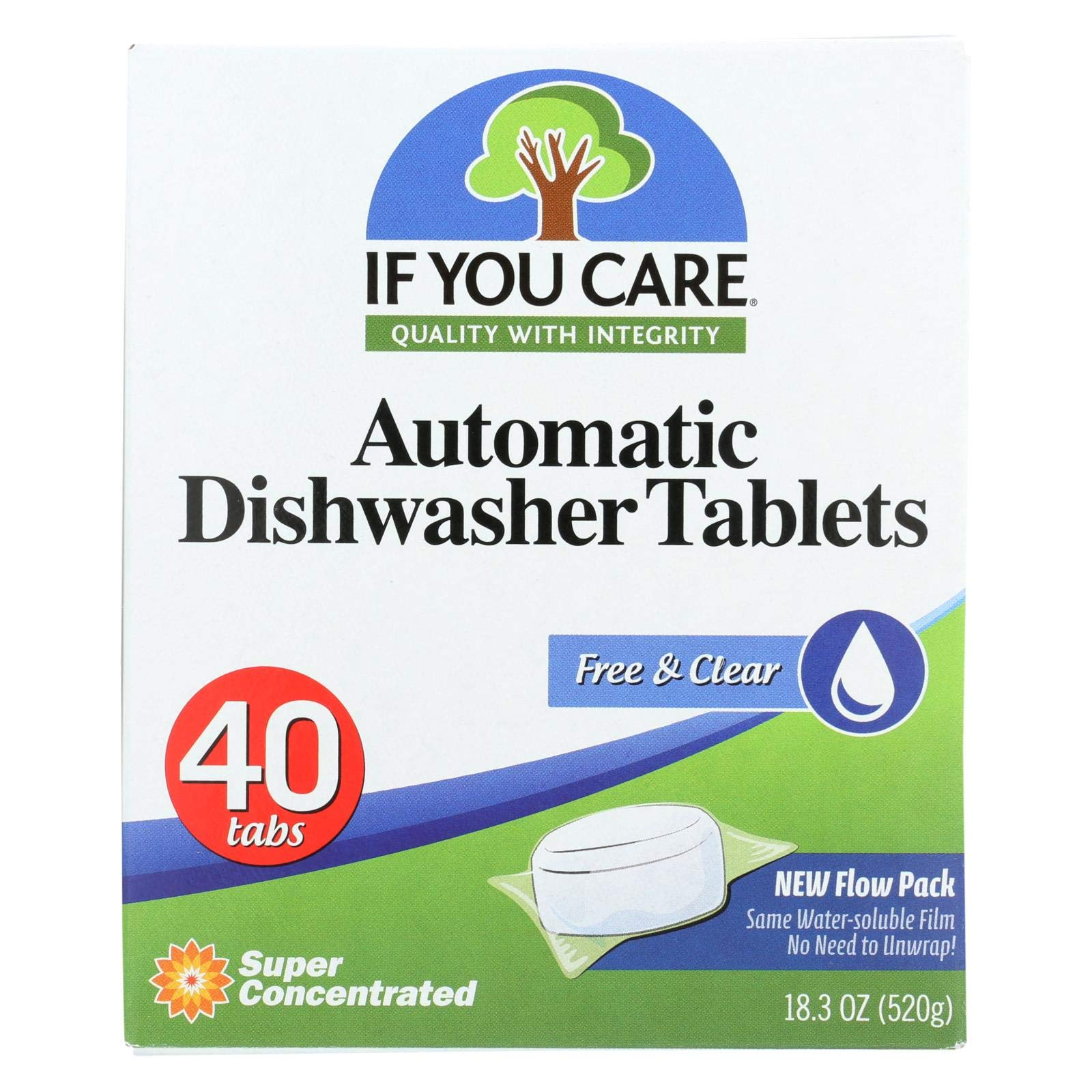 If You Care, Dishwasher Tabs Free and Clear, 18.3 Ounce