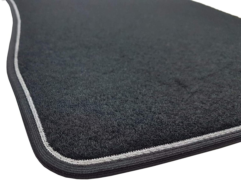 Color Negro Alfombrillas de Coche Il Tappeto Auto Borde Bicolor tac/ón Reforzado con Goma Qashqai 2014. Antideslizantes SPRINT03305