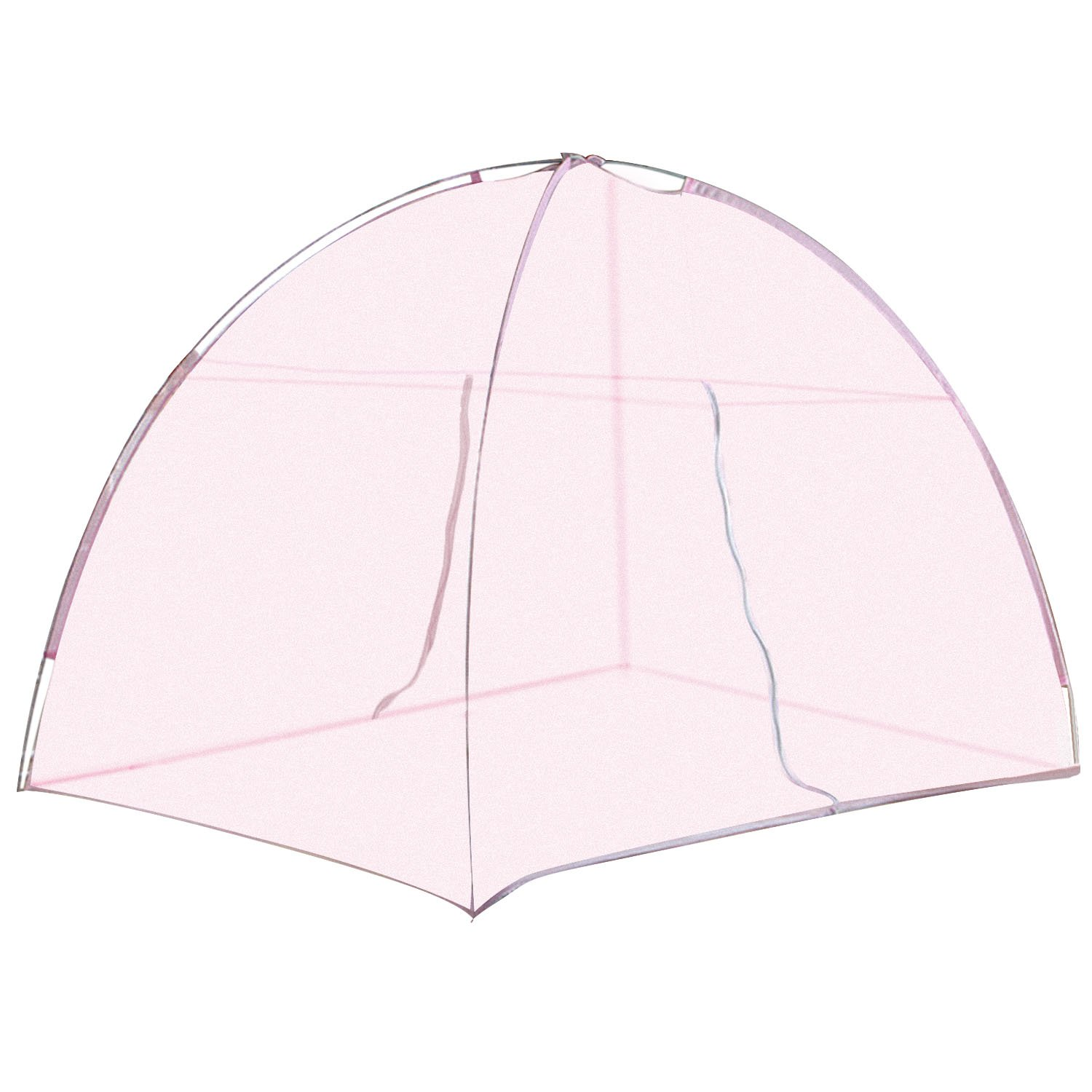 Mosquito Net Tent, Portable Folding Summer Sleeping Bedroom Anti Mosquito Netting with 2-Way Zipper for Beds Home Bedroom Camping 60 x 79 Inch Pink Migavan