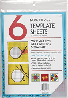 darice collins 6 count non slip vinyl template sheet 85 x 11