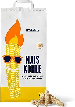 18 kg Maister Maiskohle 6er-Pack Grillkohle