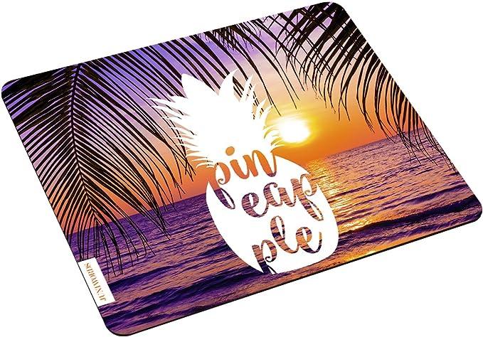 Juniwords Mousepad Mauspad Mit Motiv Weiße Ananas Pineapple Sonnenuntergang Ideales Geschenk Zum Geburtstag Weihnachten U V M Bürobedarf Schreibwaren