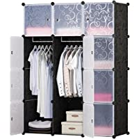 BRIAN & DANY DIY 12 Cube Wardrobe Portable Clothes Closet 30% More Space Than Normal 111 × 47 × 148 cm