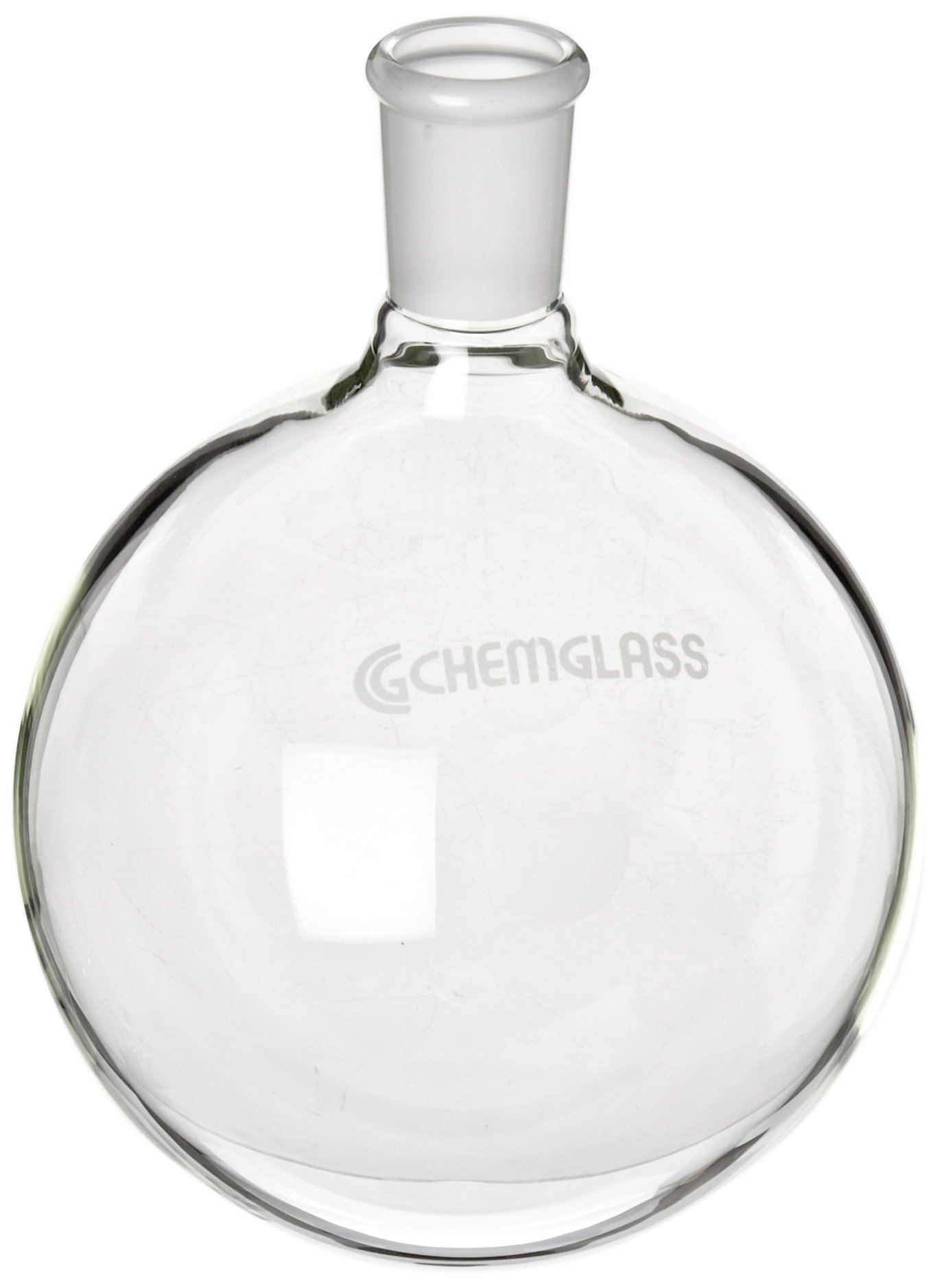 Chemglass CG-1506-26 Glass 2000mL Heavy Wall Single Neck Round Bottom Flask, with 29/42 Standard Taper Outer Joint