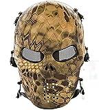 cqjdg extérieur Masque Visage Masque de protection Squelette de crâne pour airsoft/Bb Gun/Cs Jeu et Parti