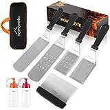 HOMENOTE Griddle Accessories Kit, 7-Pieces Exclusive Griddle Tools Long/Short Spatulas Set - Commercial Grade Flat Top…