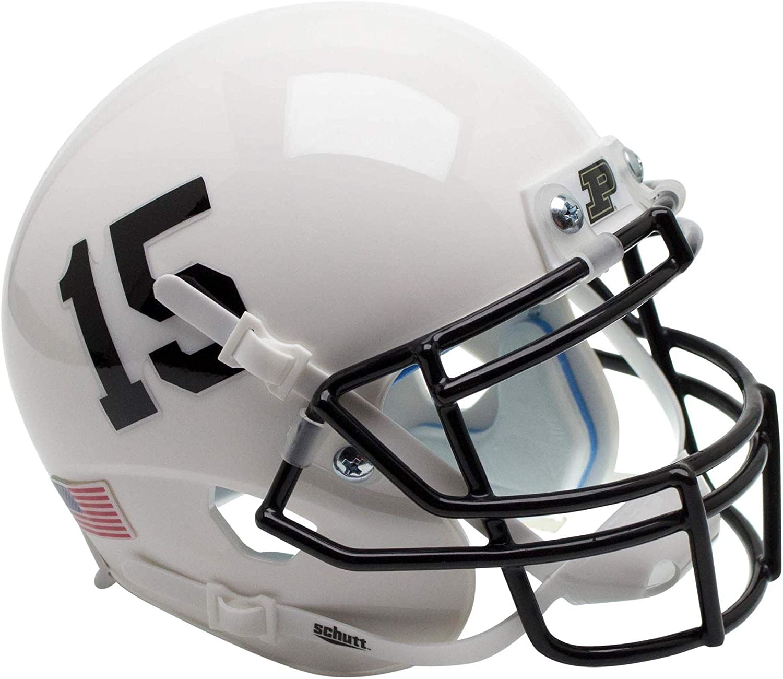 Purdue Boilermakers Schutt White #15 Mini Football Helmet College Mini Helmets