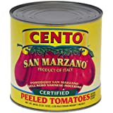 Cento San Marzano Tomatoes with Basil Leaf, Certified, Peeled 90 Oz (Pack of 6)