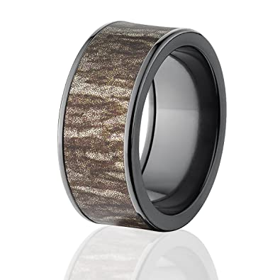 Mossy Oak Rings Camo Wedding Bands Black Bottomland Camo Rings
