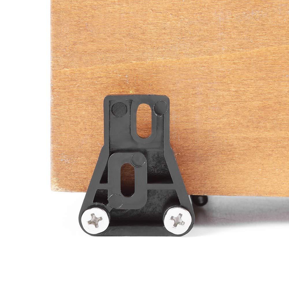Ajuste Perfecto para Todas las Puertas Barn Delaman Rodillo de Alojamiento de Premium Plastic Floor Deslizamiento Montado en la Pared con Tornillos Gu/ía de la Puerta