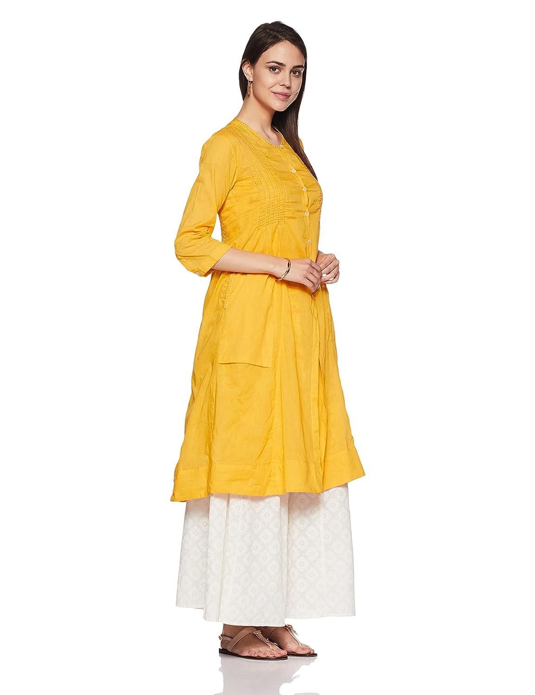 219904abf4 BIBA Women s Angrakha Kurta  Amazon.in  Clothing   Accessories