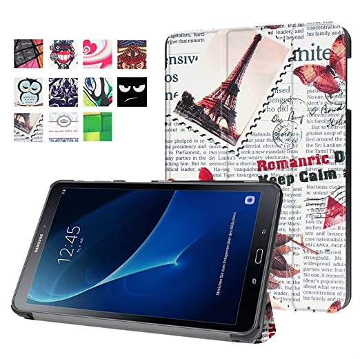 25 opinioni per Samsung Galaxg Tab A 10.1'' Custodia,Ultra thin Slim Custodia Flip Smart Case