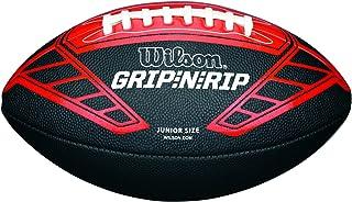 Wilson Ballon Football Américain, Utilisation récréative, Taille Junior, NFL GRIP N RIP JUNIOR FOOTBALL RD, Noir/Rouge, WTF1608XB Utilisation récréative ballon de football americain ballon de sport ballon de foot americain