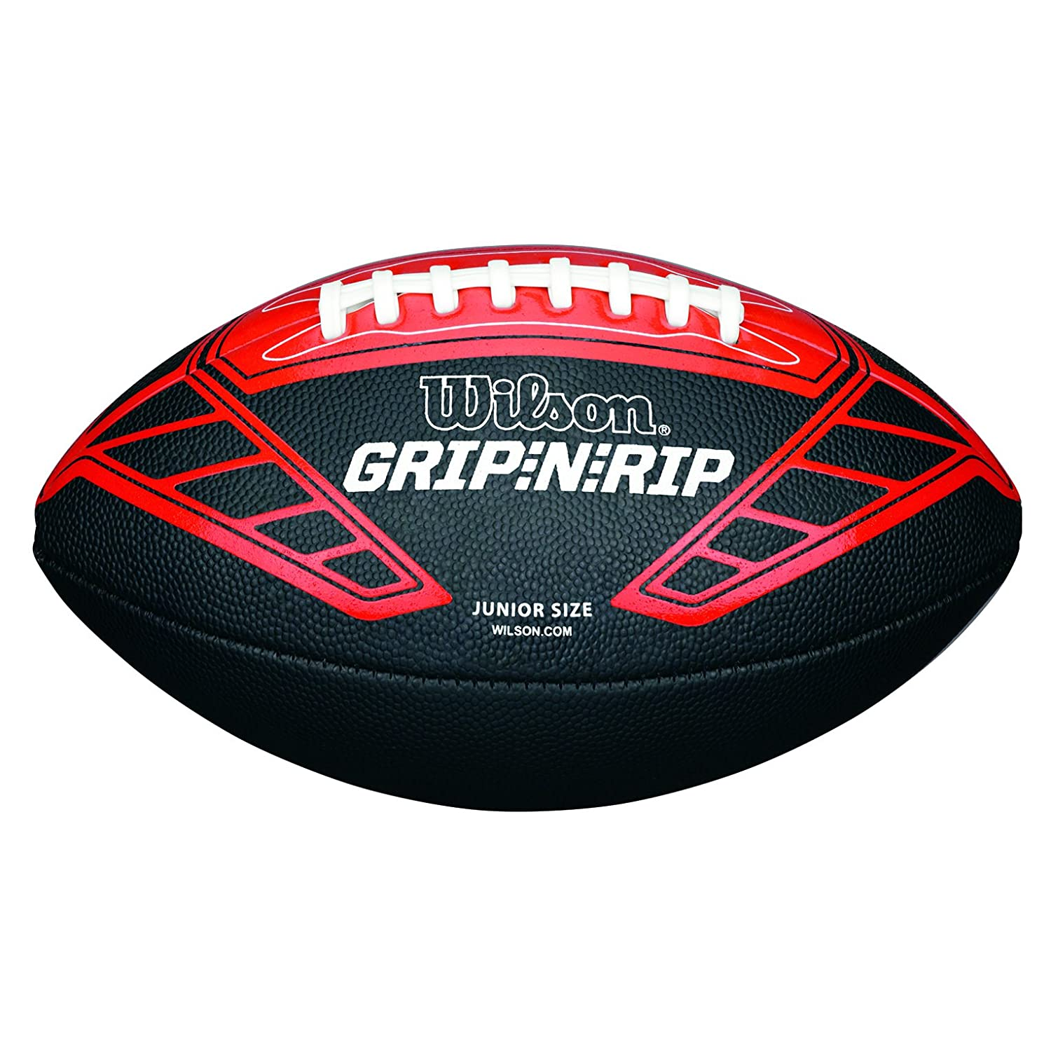 Wilson Ballon Football Américain, Utilisation récréative, Taille Junior, NFL GRIP N RIP JUNIOR FOOTBALL RD, Noir/Rouge, WTF1608XB ballon de football americain ballon de sport ballon de foot americain ballon de foot americain cuir
