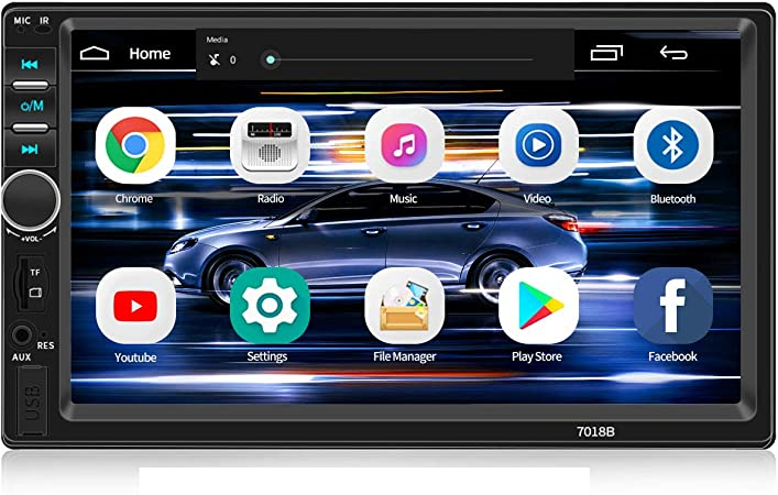 Amazon Com Double Din Car Stereo Wzto 7 Inch Touch Screen Double Din Car Radio Compatible With Bt Tf Usb Mp5 4 3 Player Fm Aux In Radio Audio Support Mirror Link Steering Wheel Control Backup Rear View