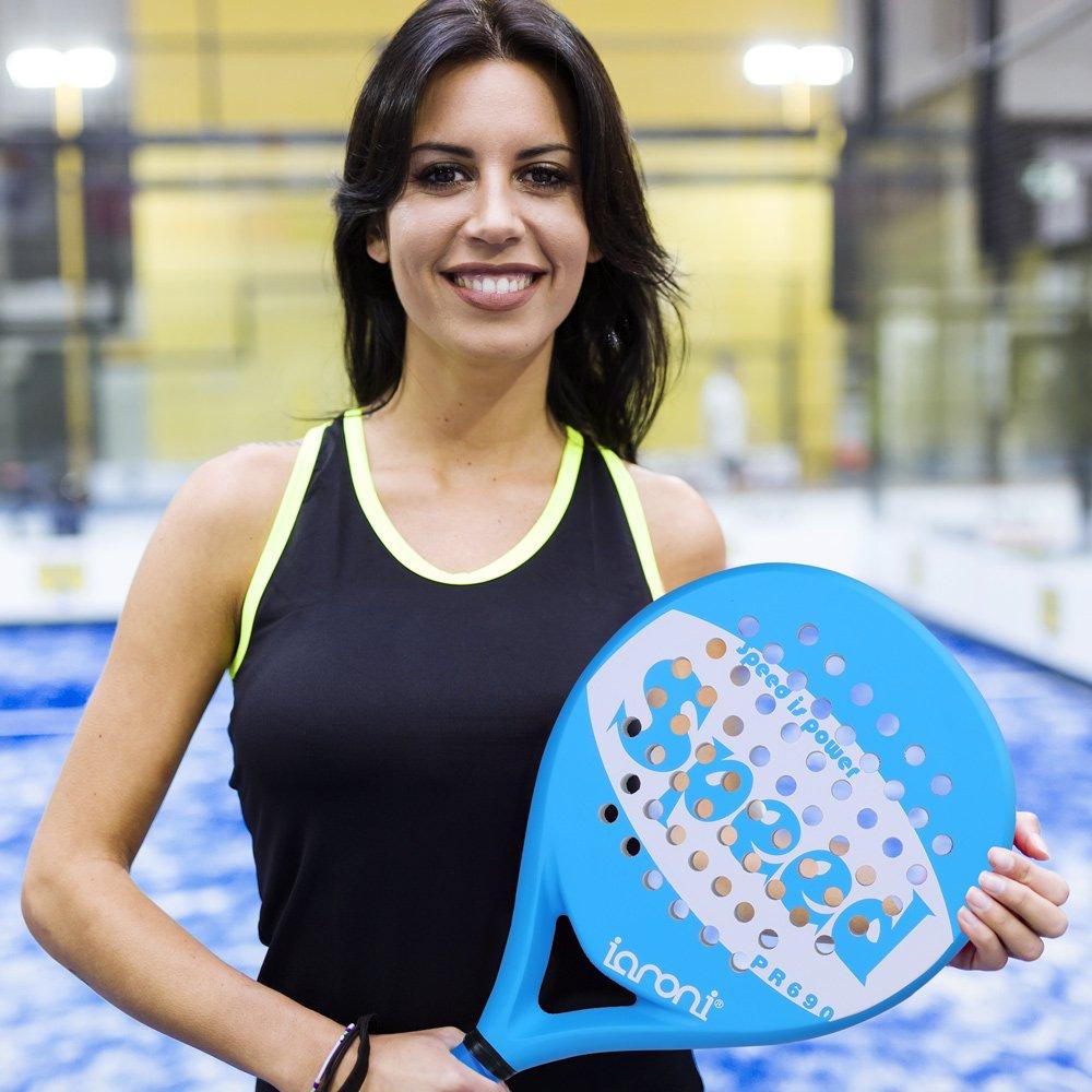 ianoni Pala de Pádel Raqueta para Pop Tenis Marco de Fibra ...