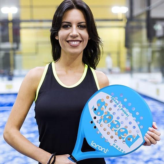 ianoni Tenis Padel Beach Raqueta Tennis Paddle con Fibra de Carbono en la Cara y EVA Memory Foam Core: se USA indistintamente para Paddle (Padel) y Paddle ...