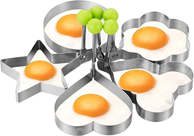 Amazon.com: Moldes de acero inoxidable para huevos fritos ...