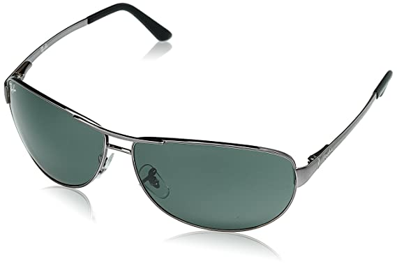 ddde1127fc59a Ray-Ban Aviator Sunglasses (Green)(0RB3342I00463)  Amazon.in ...