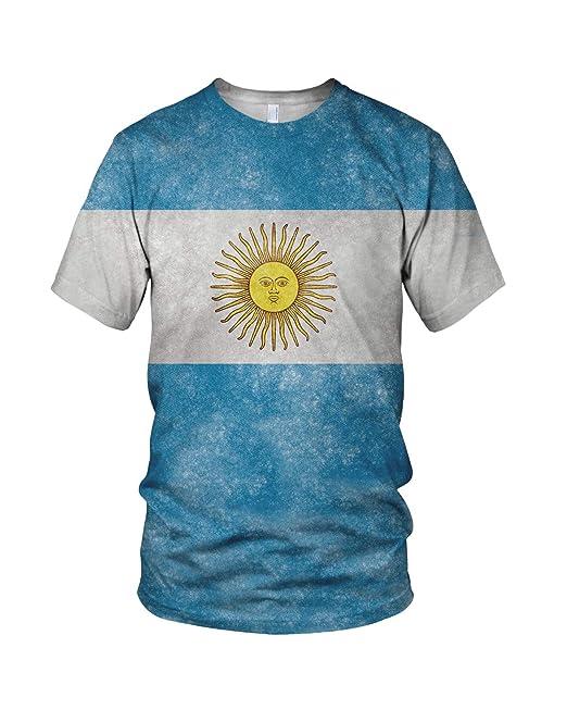 Estampado Entero Argentina Bandera Hombre Moda Camiseta: Amazon.es: Ropa y accesorios