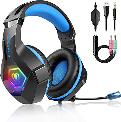 XBOX ONE PC Stereo Bass Surround Gaming Headset for Sony PS4 Laptop,Cell Phone