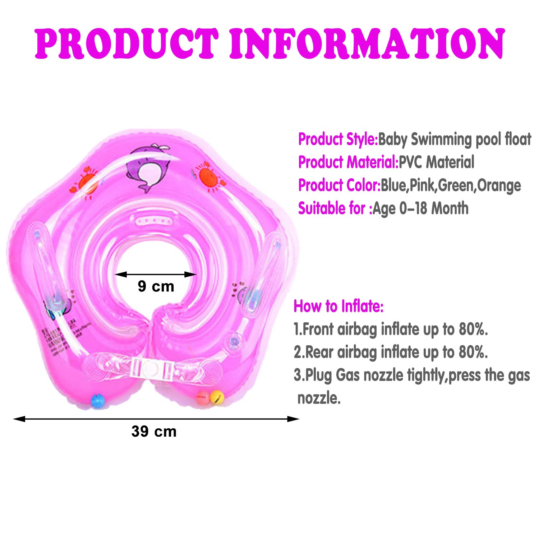 GBD Infant Natación Flotador Inflable Anillo de Seguridad, Flotador de Doble Airbags de para Bebes de 0-18 Meses de Natación Piscina Trainer Juguetes para ...