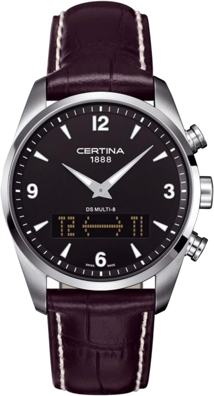 Certina C020.419.16.057.00 - Reloj para Hombres, Correa de Cuero Color Negro