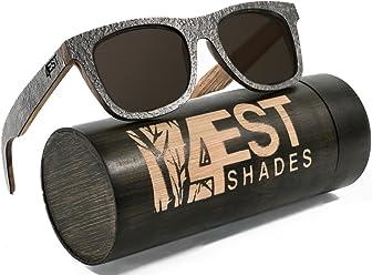 d7f27e8fc5 4EST Shades Stone Wood sunglasses - Polarized lenses in a one of a kind  frame
