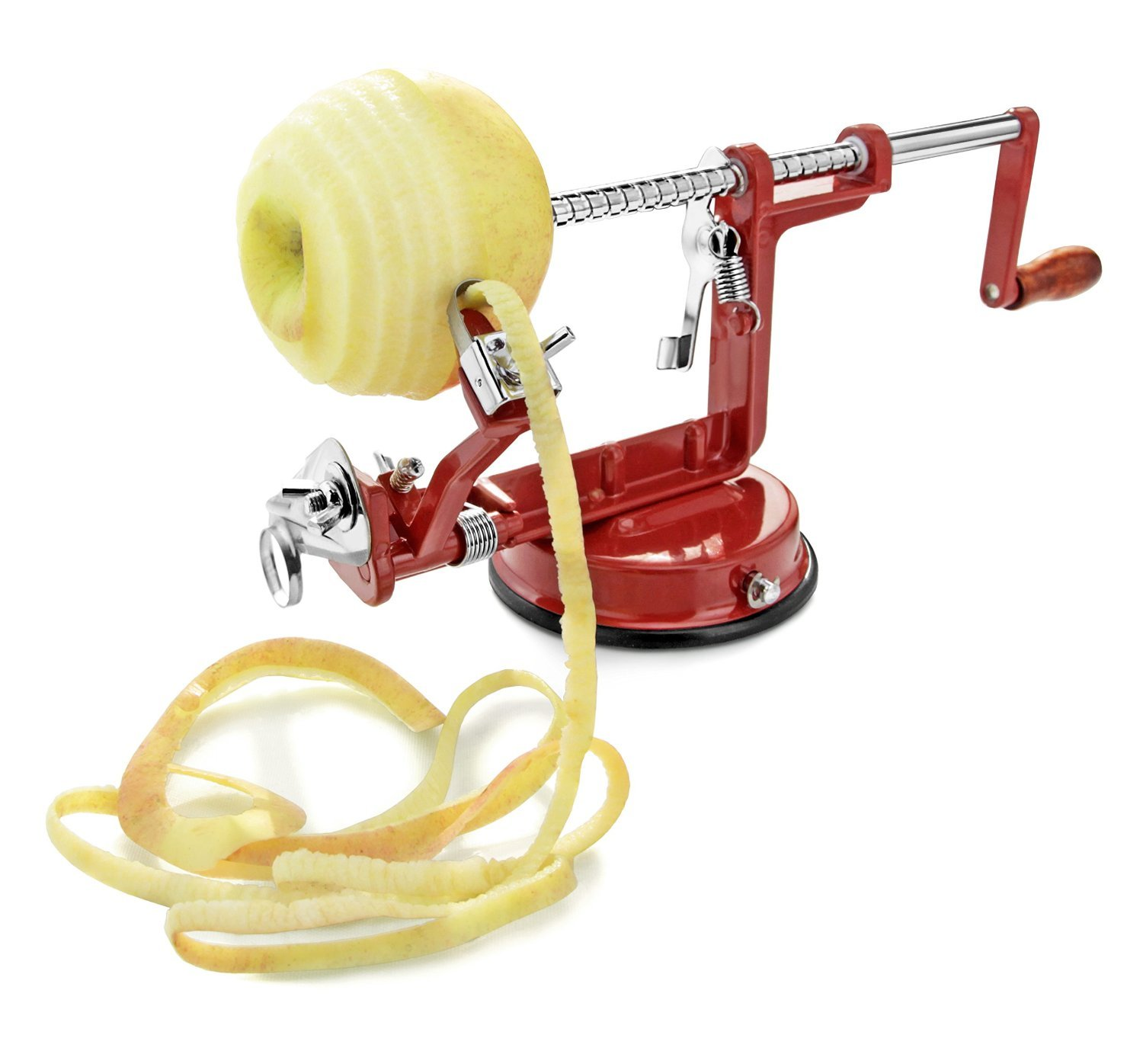APPLE PEELER by Spiralizer, Durable Heavy Duty Die Cast Magnesium Alloy Apple Slicer, Corer Peeler