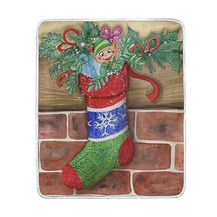 Christmas Throw Blanket.Amazon Com Wamika Merry Christmas Throw Blanket Home Decor