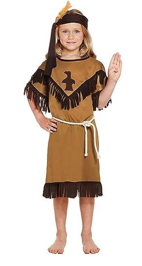 1a8da1fc7 Amazon.com: GUBA® Native American Indian Girls Fancy Wild West Western Kids  Costume Outfits Age 4-12 yrs: Clothing