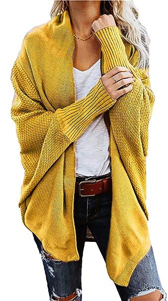 22e4d4c236520e Bevalsa Cardigan Donna Maglione Lungo Maglia Sweater Cappotto Anteriore  Aperto Maglioni Autunno Inverno Rosso Beige Blue Nero: Amazon.it:  Abbigliamento