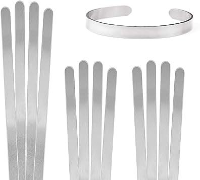 1//4 x 6 Pack of 12 ImpressArt Aluminum Bracelet Blanks