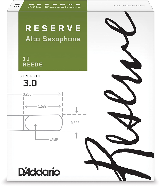 D'Addario, Reserve DJR1020 - Ancia per Sax contralto, confezione da 10 pezzi D' Addario DJR1030