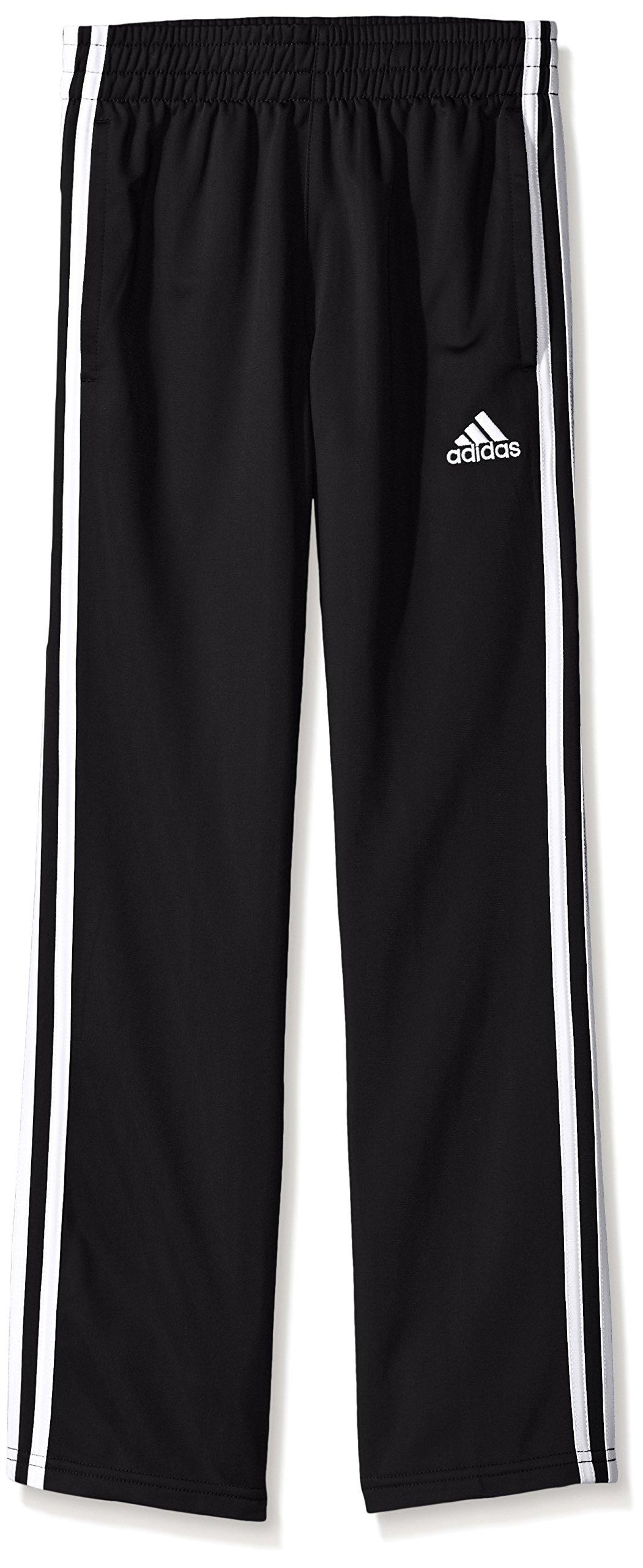 adidas Big Boys' Tricot Pant, Black, M
