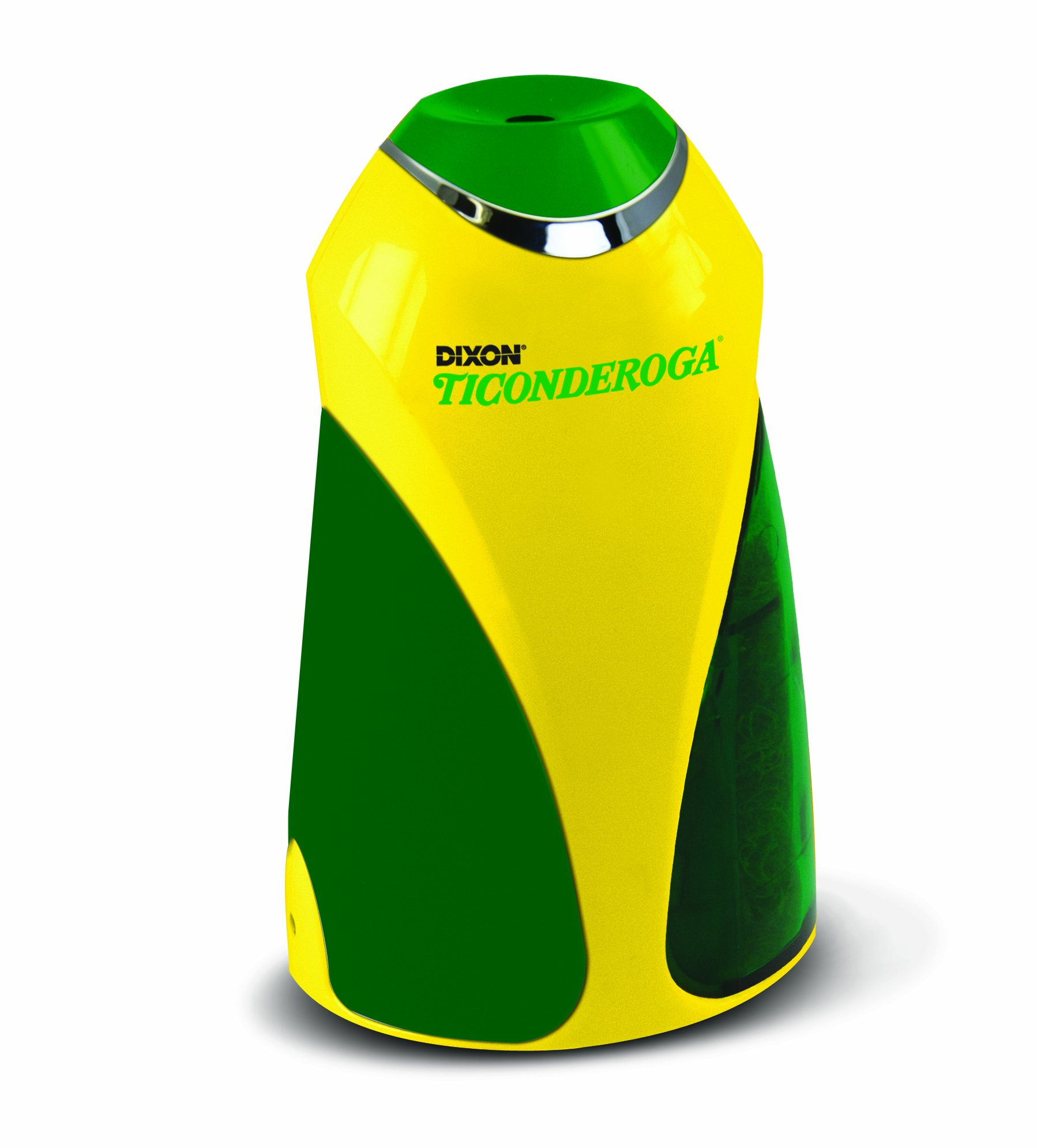 Ticonderoga Personal Electric Pencil Sharpener, Vertical, Yellow and Green, Plus 12 Ticonderoga Pencils (39571) by Dixon