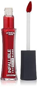 L'Oréal Paris Infallible Lip Pro Matte Gloss, Shanghai Scarlet, 0.21 fl. oz.