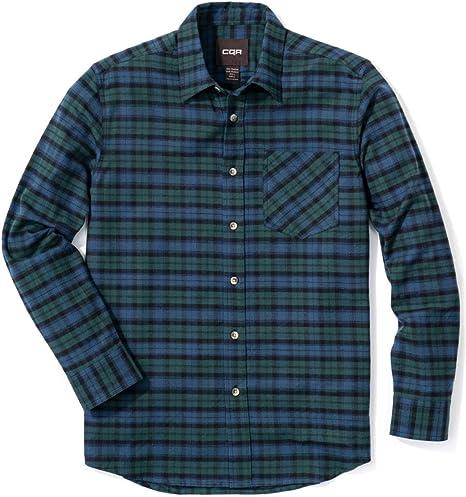 CQR Camisa de franela de manga larga con botones a cuadros de algodón cepillado para hombre, Hombre Niños Infantil, Plaid Flannel(hof001) - Black Watch, xxx-large: Amazon.es: Deportes y aire libre