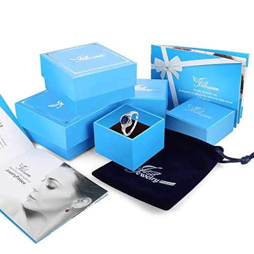 JewelryPalace Anillo 1.1ct Creado Azul Zafiro Declaración ...