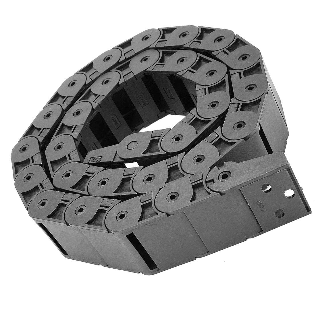 Aodesy 1M//3.3 Ft Plastic Cable Wire Carrier Drag Chain R38 18mm x 37mm Flexible Nested Semi Closed Drag Chain for CNC Router Shenzhenshiaodesiwujinjidianyouxiangongsi