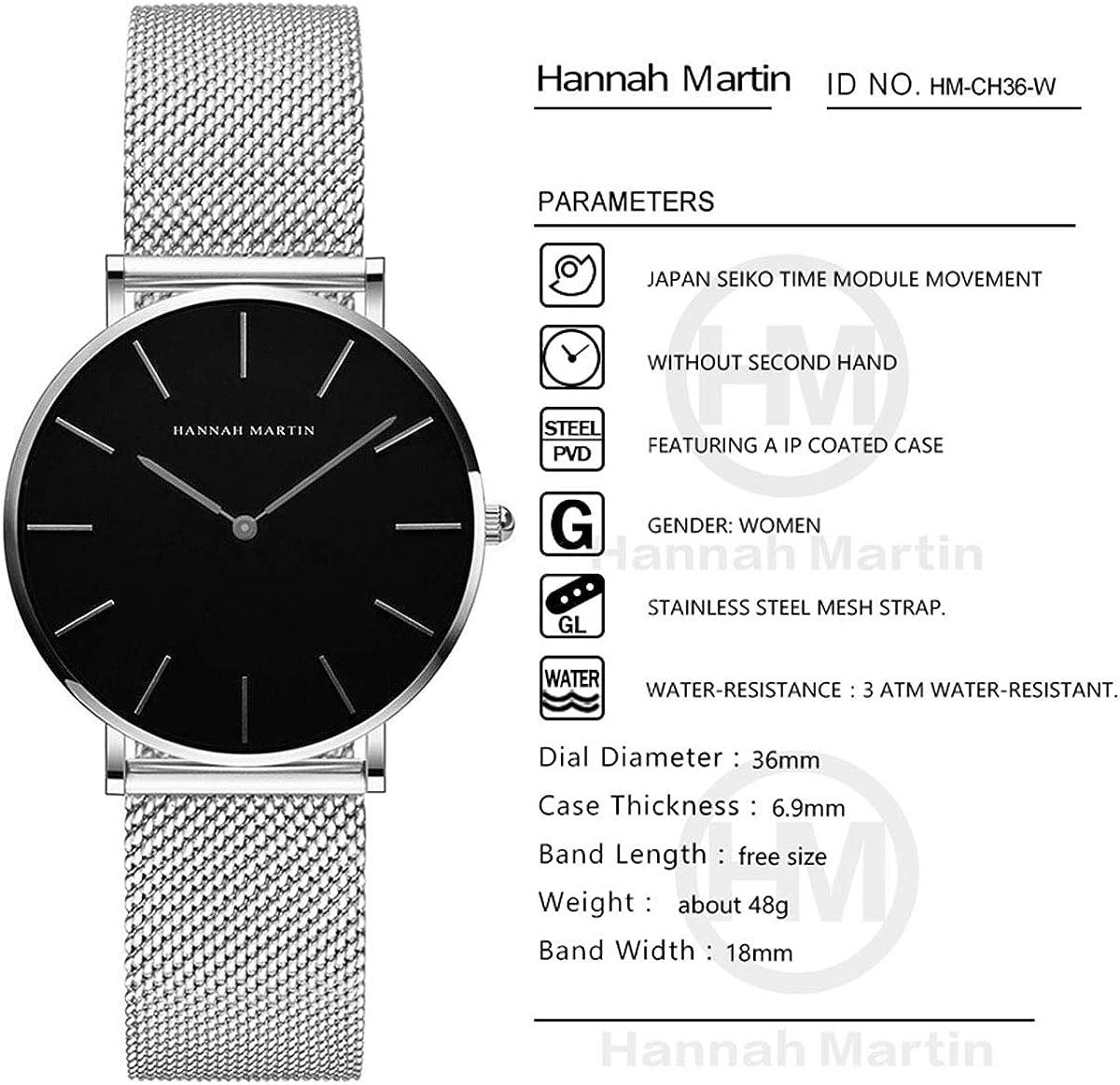 Reloj - HANNAH MARTIN - para - HM-CH36-W: Amazon.es: Relojes