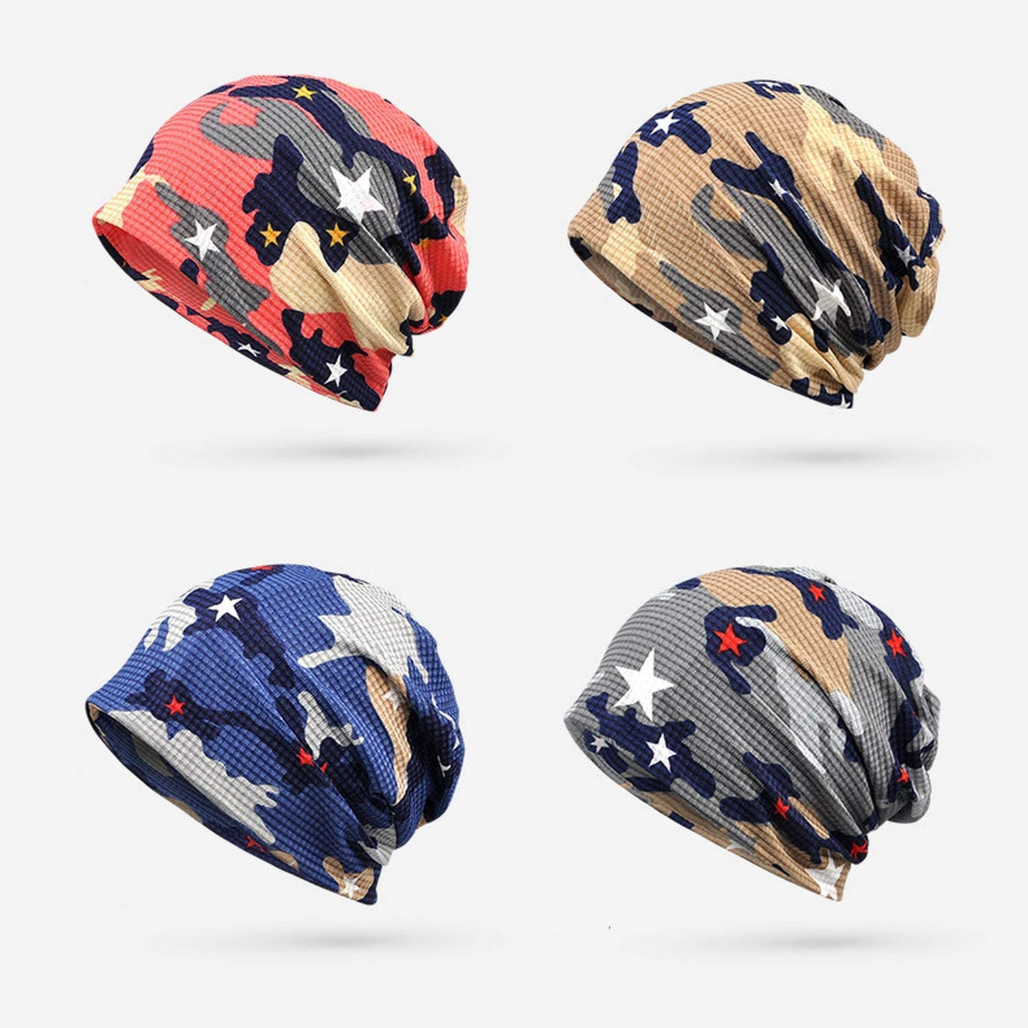 MEIZOKEN Thin Autumn Winter Beanies for Women Men Hat Hiphop Helmet Liner Sports Camouflage Army Slouchy Baggy Skullie