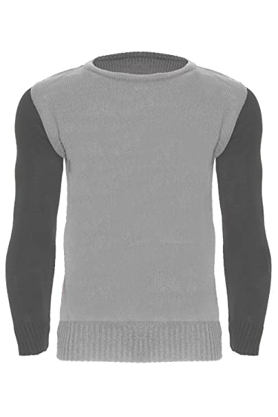 Mens Long Sleeve Pullover Knitted Jumper Polo Roll Neck Designer Contrast