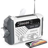Emergency Radio, dodocool NOAA Weather Radio, Hurricane Supplies Hand Crank Battery Operated Solar Survival Radio with…